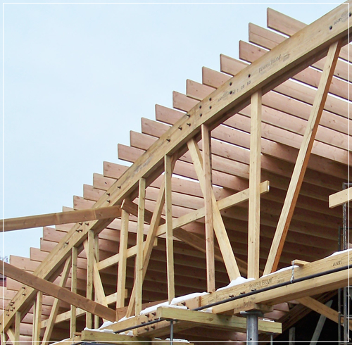 Truss Erection | Wooden Roof Structures | Wooden Roof Structures | Truss Repairs and Reinforcing | Truss Fabrication & Erection | Roof Structure Inspections | Engineered Beams and Decking | Emergency Shoring | Glu-Laminated Beams & Wood Decking